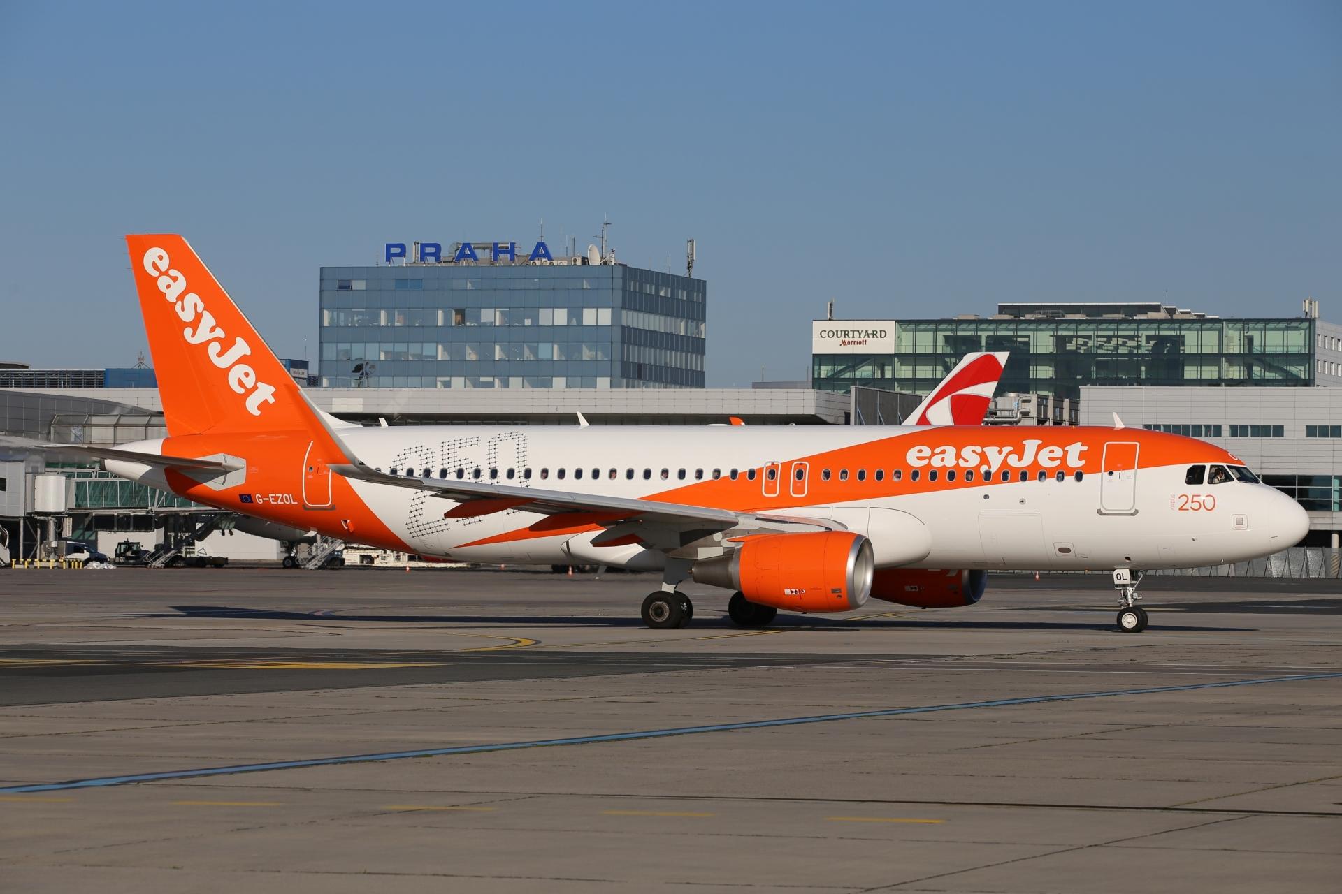 Letadlo easyJetu v Praze. Autor: Letiště Praha