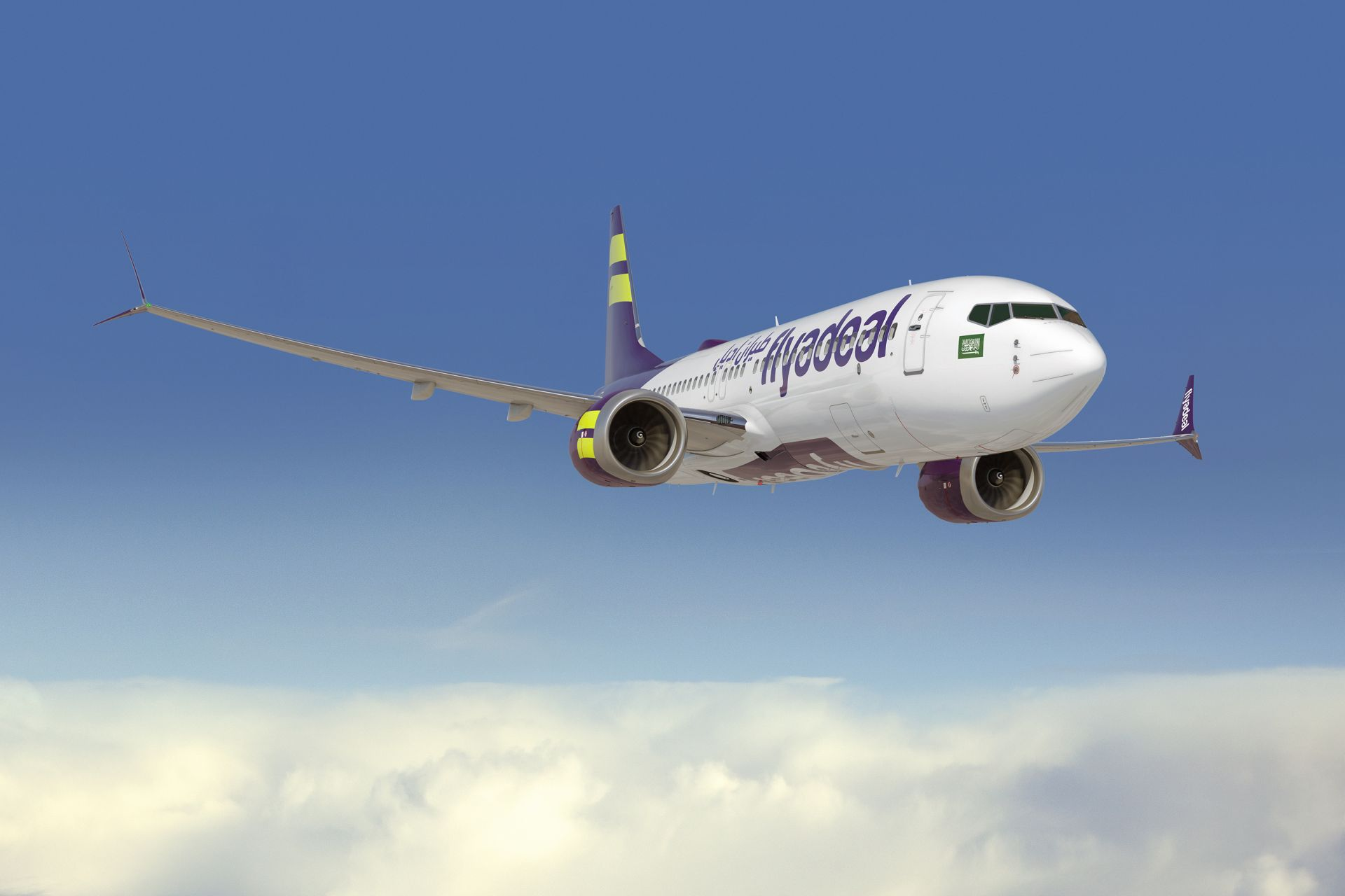 Vizualizace 737 MAX 8 v barvách Flyadeal.com. Foto: Boeing