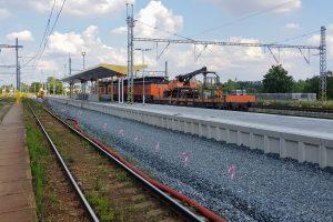 Modernizace železniční stanice Jaroměř, stav v červenci 2019. Foto: Jan Sůra