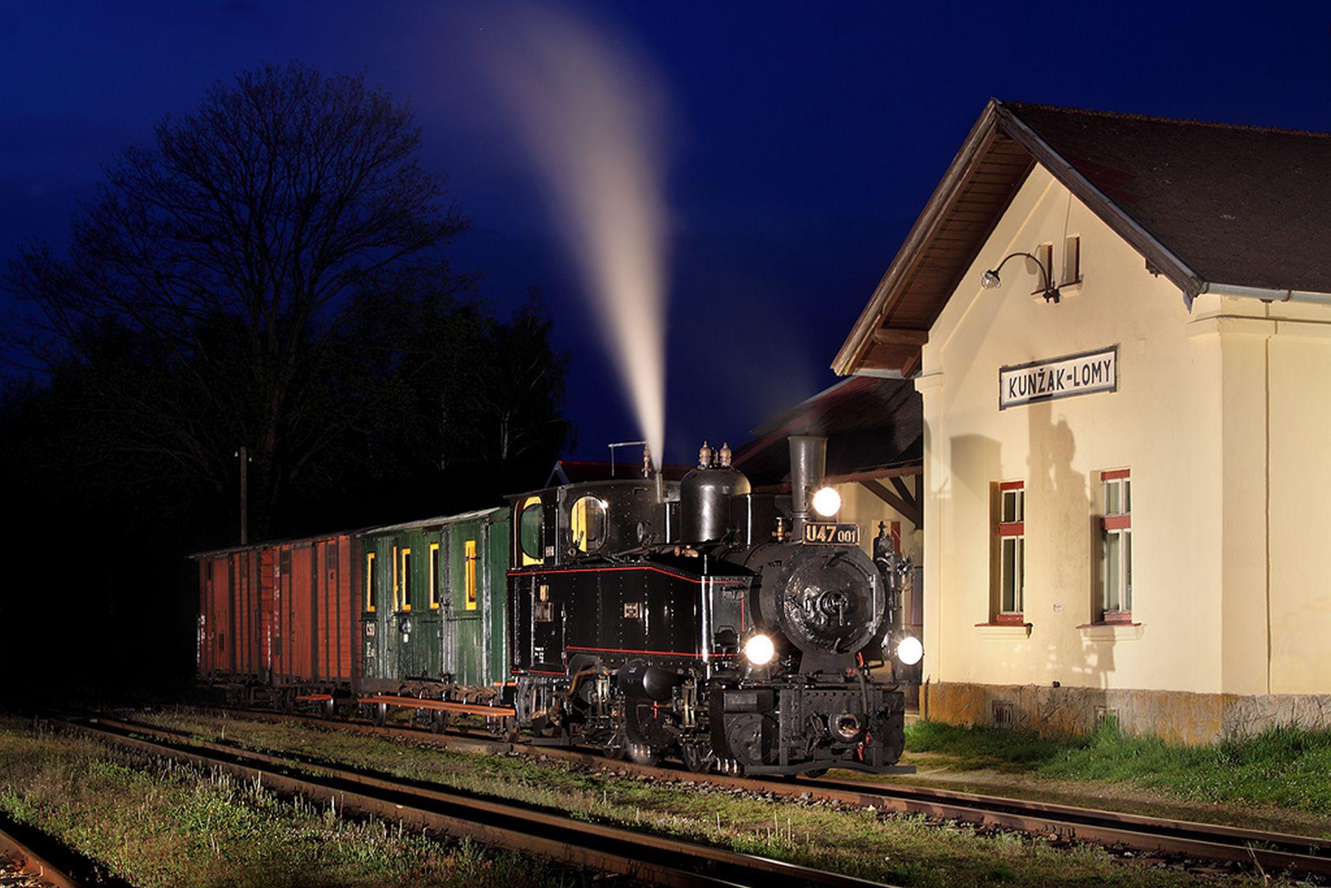 Lokomotiva U47.001 Malletka se už jen tak na jindřichohradecké úzkokolejky nepodívá. Národní technické muzeum si ji stáhlo zpět. Foto: Petr Tylšar