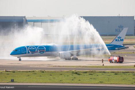 Přílet prvního Boeingu 787-10 v barvách KLM. Foto: KLM
