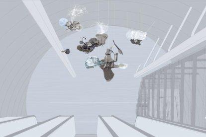 Výtvarná podoba stanice Pankrác podle Jakuba Nepraše
