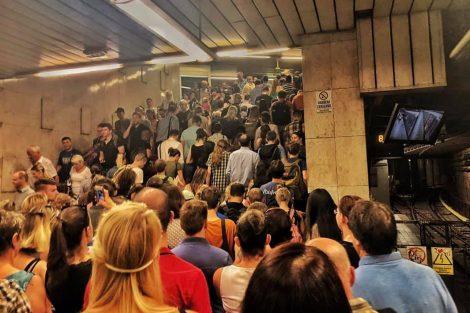 Situace ve stanici Pražského povstání v pondělí 1.7. 2019. Foto: Martin Šnajdr