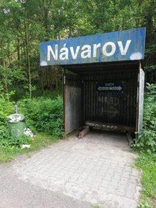 Zastávka Návarov. Foto: Petr Špetlák