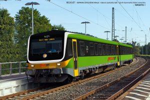 Motorová jednotka 845 (628) na vizualizaci pro provoz RegioJetu v Ústeckém kraji. Foto: RegioJet