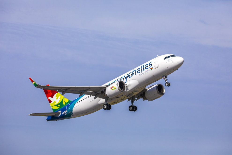 Airbus A320neo v barvách Air Seychelles. Pramen: Airbus