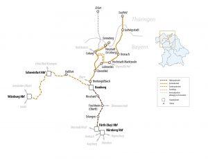 Mapa provozního souboru Franky - Jižní Duryňsko. Foto: BEG