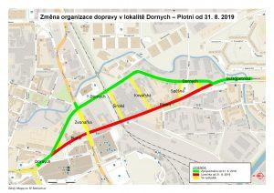 Změny v oblasti Dornych/Plotní. Pramen: Město Brno