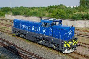 Lokomotiva EffiShunter 1600 v barvách finského dopravce Fennia Rail. Foto: CZ LOKO