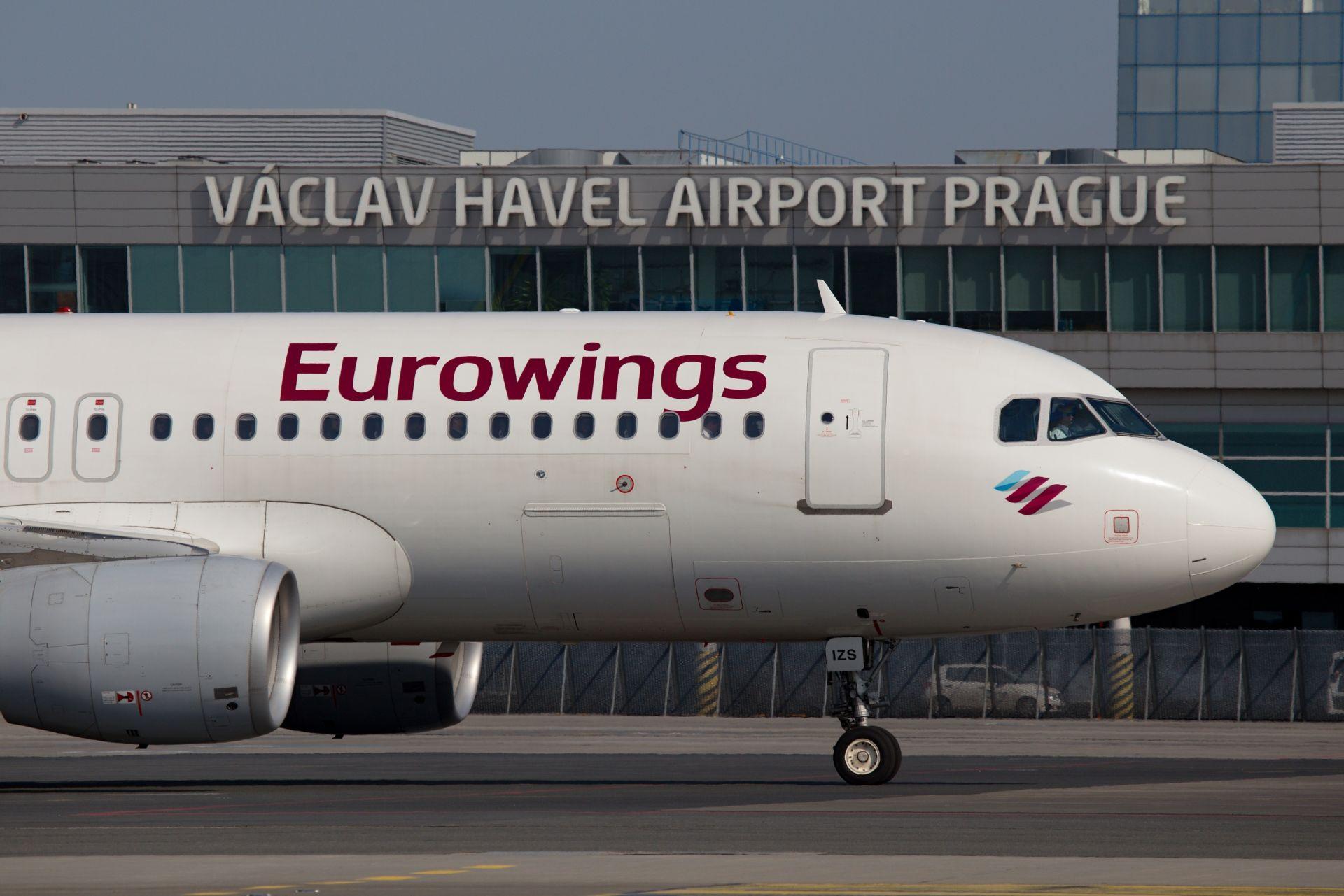 Airbus A320 společnosti Eurowings v Praze. Foto: Letiště Praha