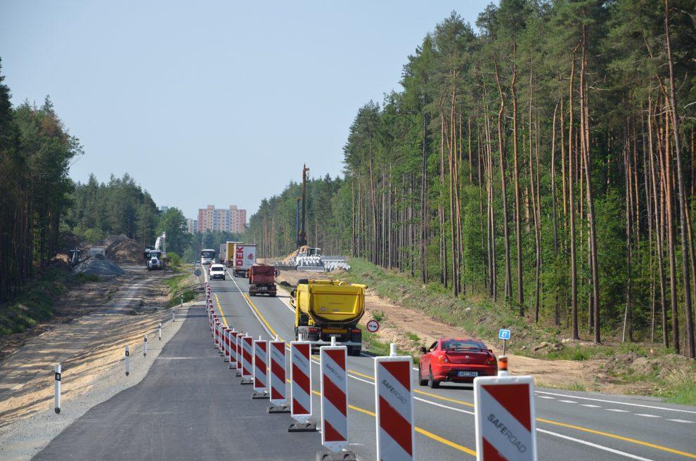 Modernizace silnice I/27 severně od Plzně. Pramen: ŘSD