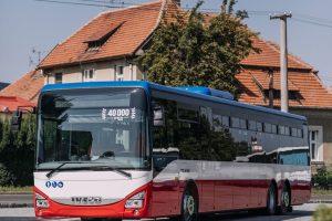 Autobus Iveco Crossway číslo 40000. Pramen: Iveco Bus