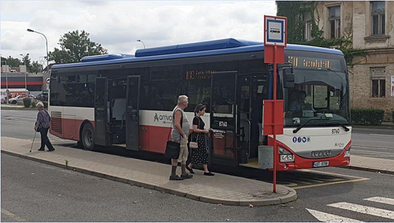 Autobus Iveco kladenské MHD. Pramen: ČSAD MHD Kladno