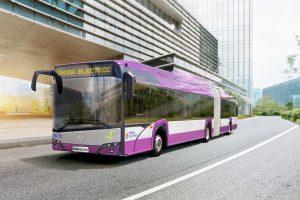 Trolejbus pro Kluž, ilustrační foto. Pramen: Škoda Electric