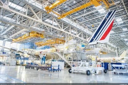 Airbus A350-900 pro Air France při montáži v Toulouse. Foto: Airbus