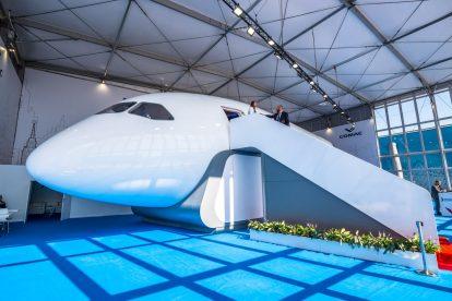 Model letadla CR929 v měřítku 1:1 na aerosalonu MAKS. Foto: Rosťa Kopecký/FlyRosta.com