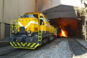 Lokomotiva EffiShunter 600 v tureckých hutích. Foto: CZ LOKO