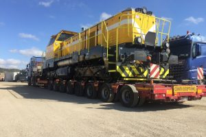 Z Ruse až do oceláren převezly lokomotivy kamiony. Foto: CZ LOKO