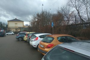 P+R parkoviště v Dobřichovicích. Foto: Jan Sůra