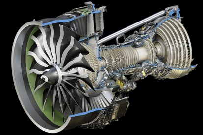 Letecký motor GE9X. Foto: GE