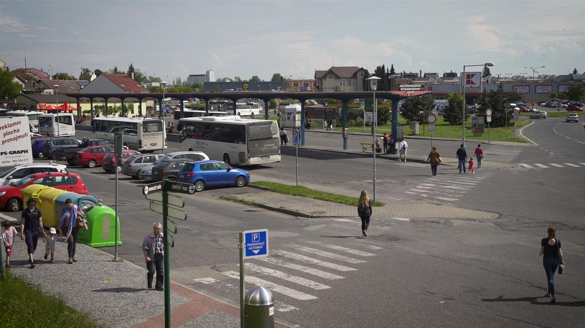 Autobusové nádraží v Jičíně. Foto: MÚ Jičín