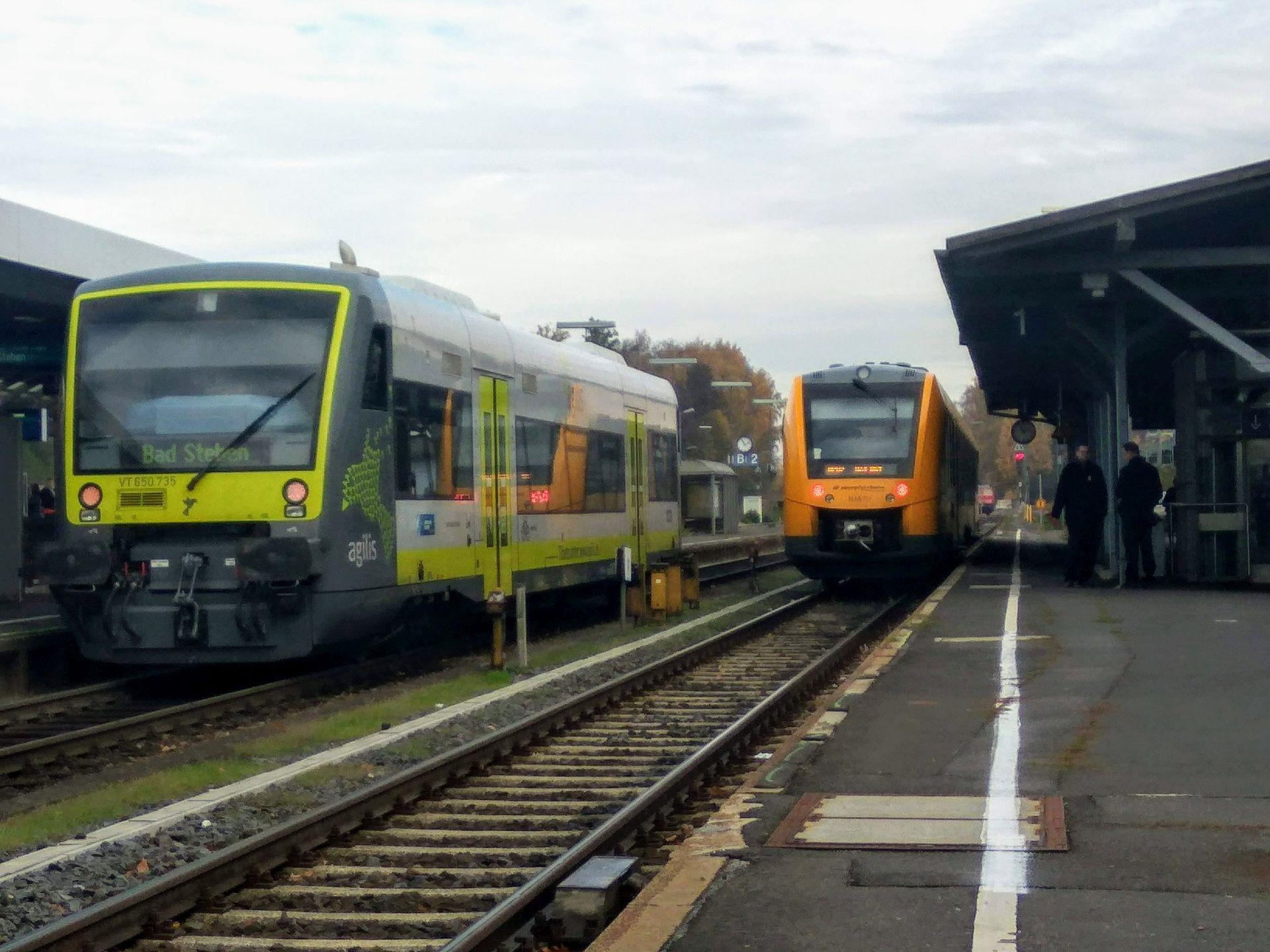 Železniční stanice v bavorském Marktredwitz. Ilustrační foto: Jan Sůra