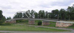 Nový most přes Labe mezi Valy a Mělice (vizualizace). Pramen: ŘVC