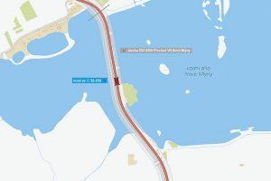 Silnice I/52 přes Nové Mlýny. Pramen: ŘSD