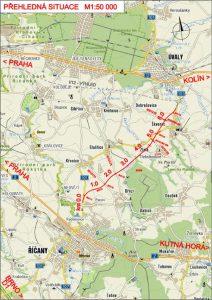 Trasa chystané nové silnice II/101 z Říčan do Úval. Foto: VPÚ Deco