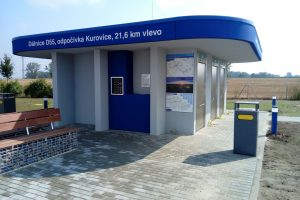 Odpočívka Kurovice na dálnici D55. Foto: ŘSD