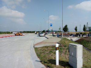 Odpočívka Kurovice na dálnici D55, ilustrační foto. Pramen: ŘSD