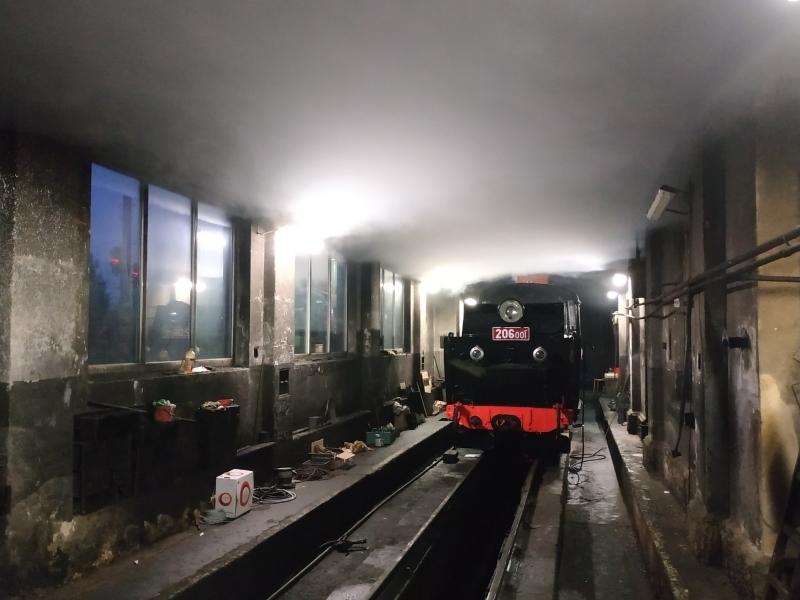 Parní lokomotiva JHMD zvaná polka. Pramen: JHMD