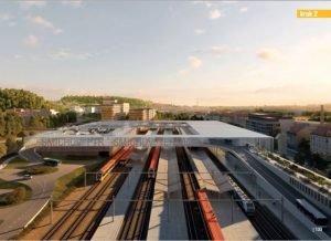 Vizualizace nového dopravního terminálu na Smíchově. Foto: IPR
