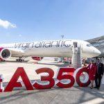 Převzetí prvního A350-1000 pro Virgin Atlantic. Foto: Virgin Atlantic