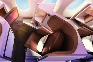 Byznys třída v nové A350-1000. Foto: Virgin Atlantic