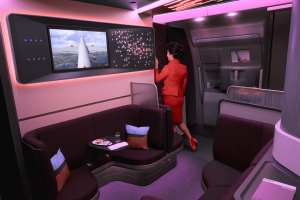 Palubní bar Loft. Foto: Virgin Atlantic