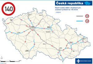 Návrh, kde by mohli řidiči na dálnicích jezdit až 140 km/h. Foto: ŘSD