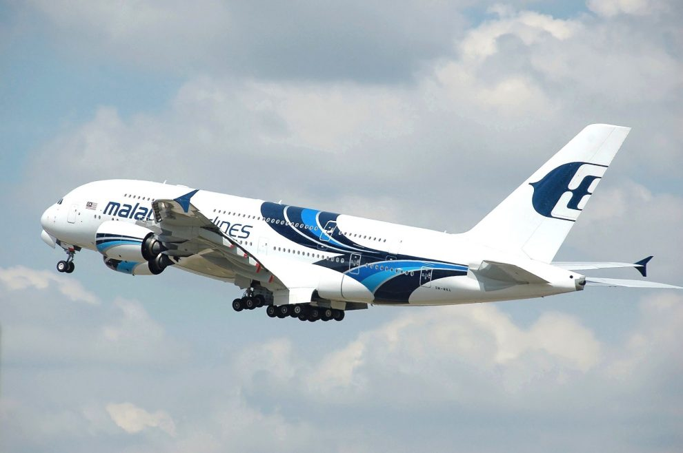 Airbus A380 společnosti Malaysia Airlines. Foto: Adrian Pingstone / Wikimedia Commons