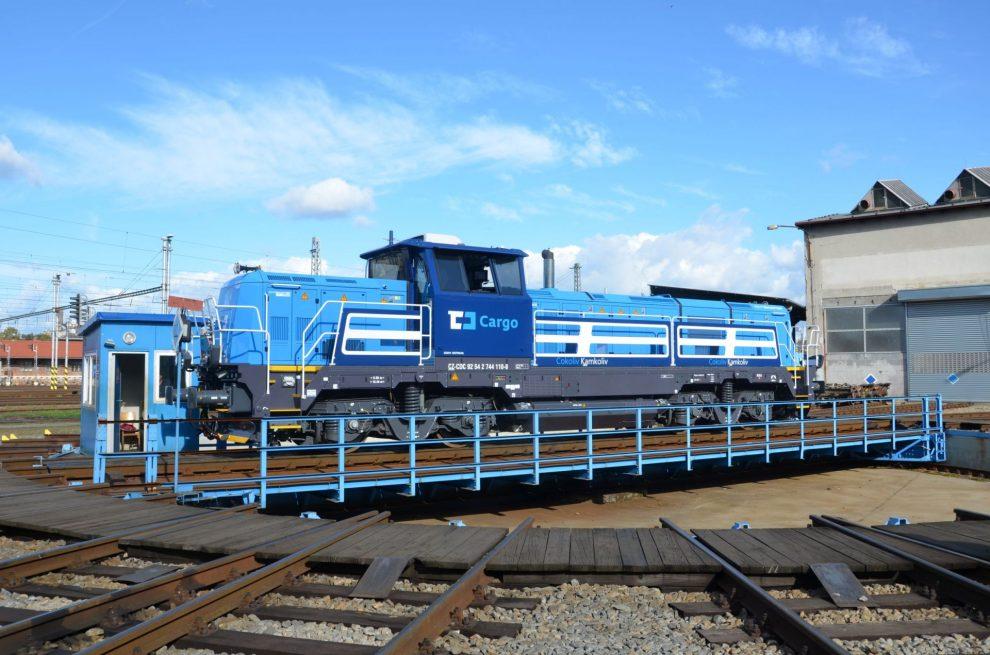 EffiShunter 1000 s označením 744.110 je první českou lokomotivou s ETCS přímo z výroby. Autor: Michal Roh