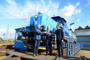 Slavnostní předání stroje EffiShunter 1000 s označením 744.110 společnosti ČD Cargo v Břeclavi. Autor: Michal Roh