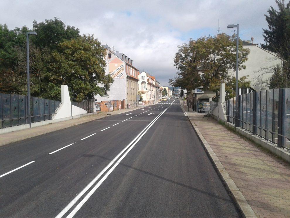 Mánesova ulice v Českých Budějovicích. Pramen: Swietelsky