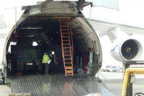 Nákladní letadlo Antonov An-124 Ruslan na Letišti Praha. Autor: Zdopravy.cz/Jan Šindelář