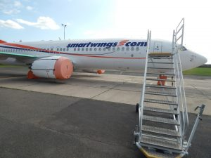 Uzemněný Boeing 737 MAX na Letišti Praha. Autor: Zdopravy.cz/Jan Šindelář