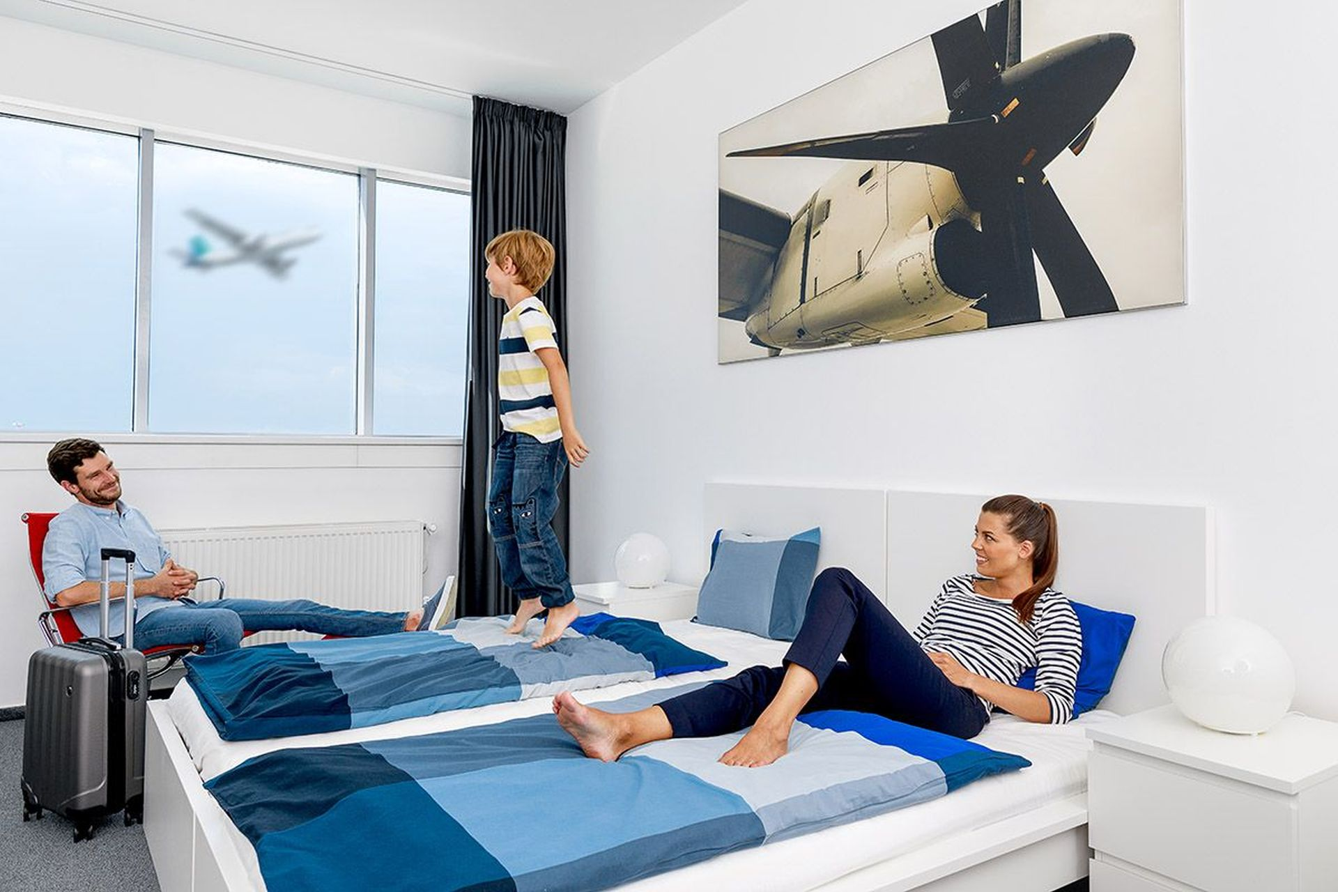 Pokoj hotelu AeroRooms na Letišti Praha. Foto: Letiště Praha