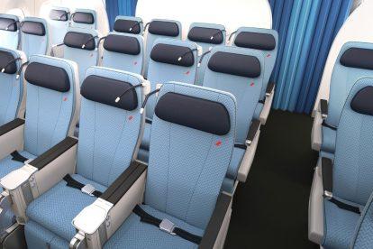 Premium economy v A350-900 společnosti Air France. Foto: Airbus