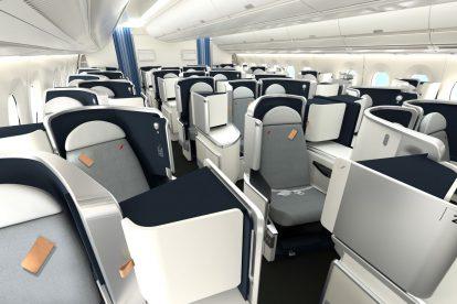 Byznys třída v A350-900 společnosti Air France. Foto: Airbus