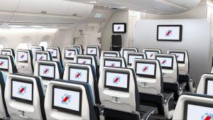 Ekonomická třída v A350-900 společnosti Air France. Foto: Airbus