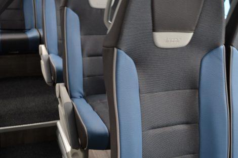 Interiér autobusu Scania Irizar i6 pro Arriva Express. Foto: Arriva