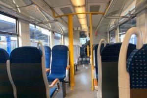Interiér Alstom Coradia Lint 41. Foto: Arriva vlaky