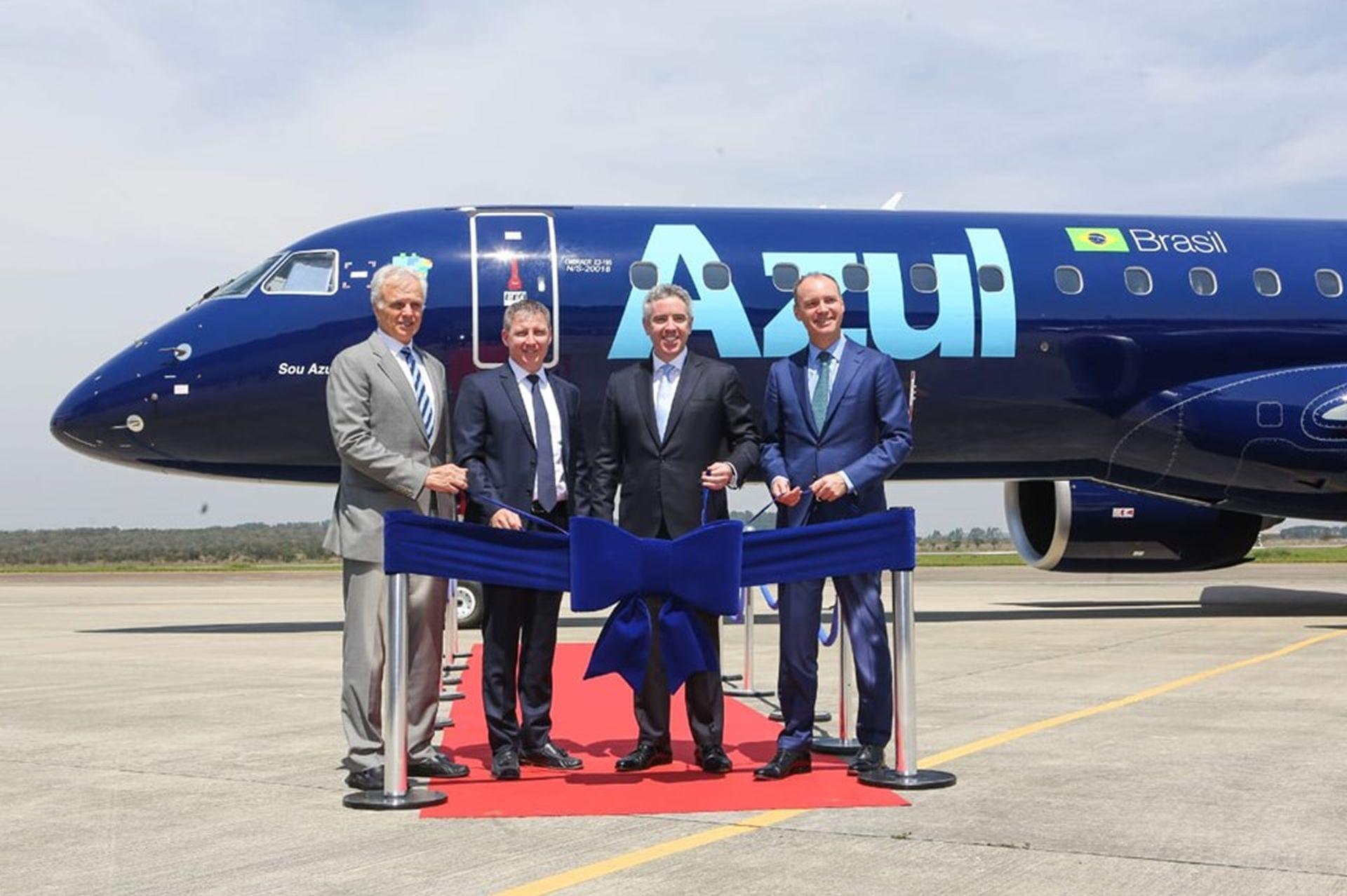 Embraer E195-E2 společnosti Azul Linhas Aéreas Brasileiras. Foto: Embraer